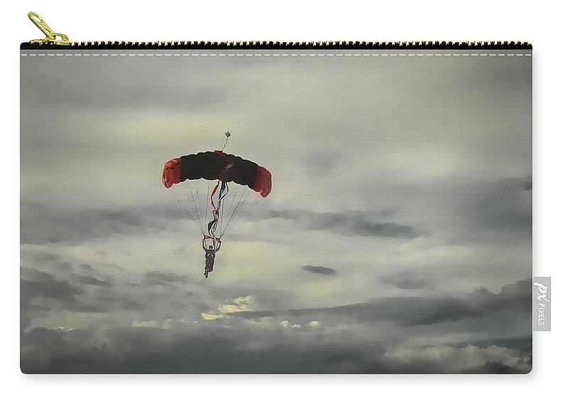 Skydiver Carry-all Pouch featuring the photograph Skydiver by Dyle Warren