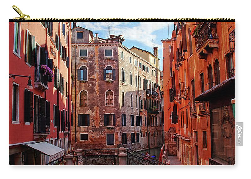 Arch Carry-all Pouch featuring the photograph Small Canals In Venice Italy by Totororo