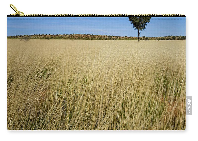 Scenics Carry-all Pouch featuring the photograph Small Single Tree In Field by Universal Stopping Point Photography