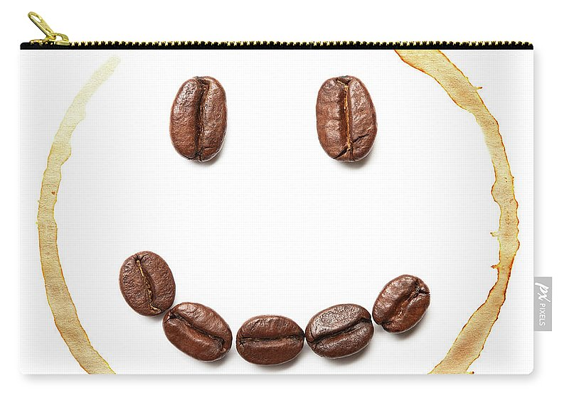Spray Carry-all Pouch featuring the photograph Smile Coffee Beans by T kimura