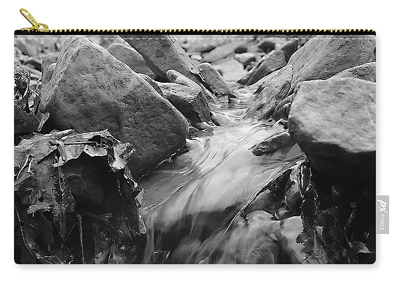 Creek Carry-all Pouch featuring the photograph Smooth As Silk by Zach Pennington