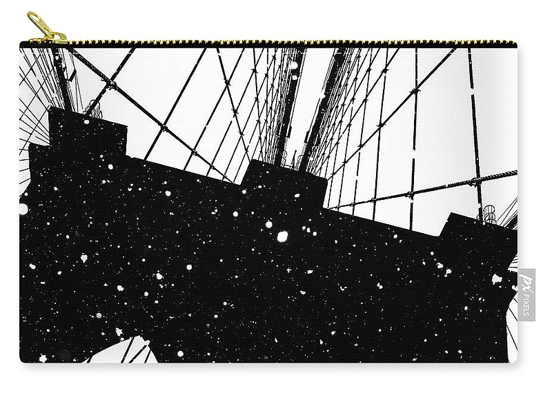 Snow Carry-all Pouch featuring the digital art Snow Collection Set 04 by Az Jackson