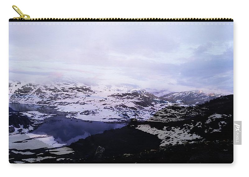 Snow Carry-all Pouch featuring the digital art Snow View by Nilu Mishra