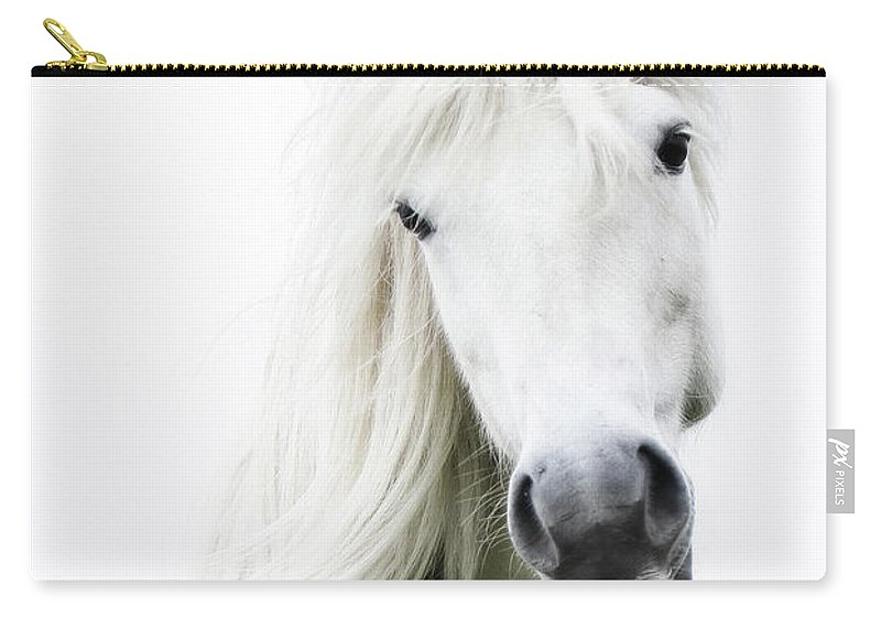 Horse Carry-all Pouch featuring the photograph Snowhite by Gigja Einarsdottir