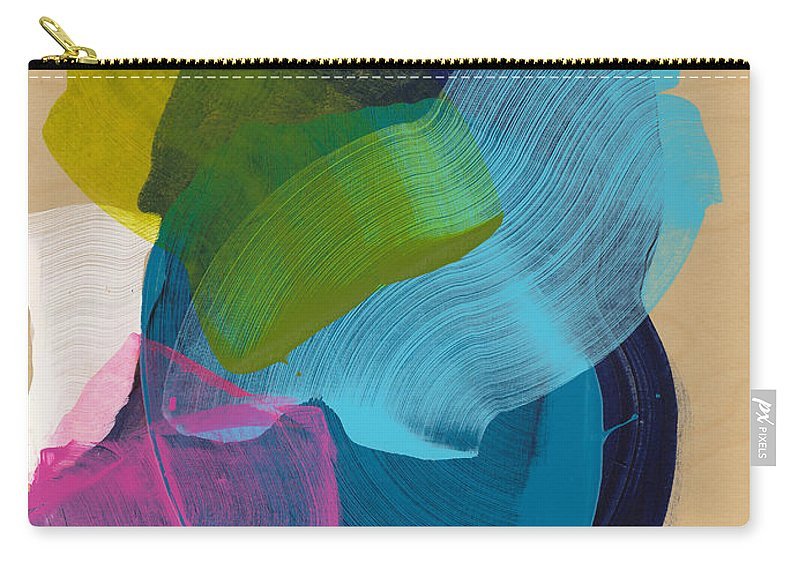 Abstract Carry-all Pouch featuring the painting Socal 02 by Claire Desjardins