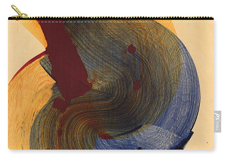 Abstract Carry-all Pouch featuring the painting Socal 03 by Claire Desjardins