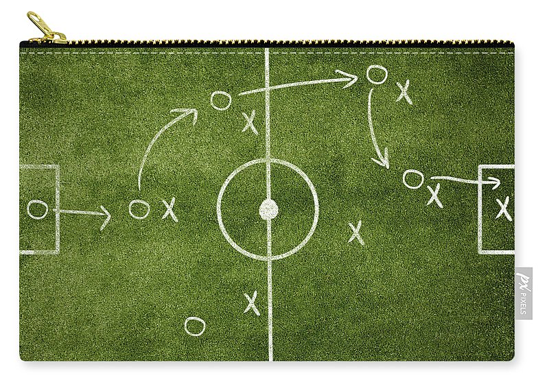 Rectangle Carry-all Pouch featuring the photograph Soccer Strategy by Goldmund