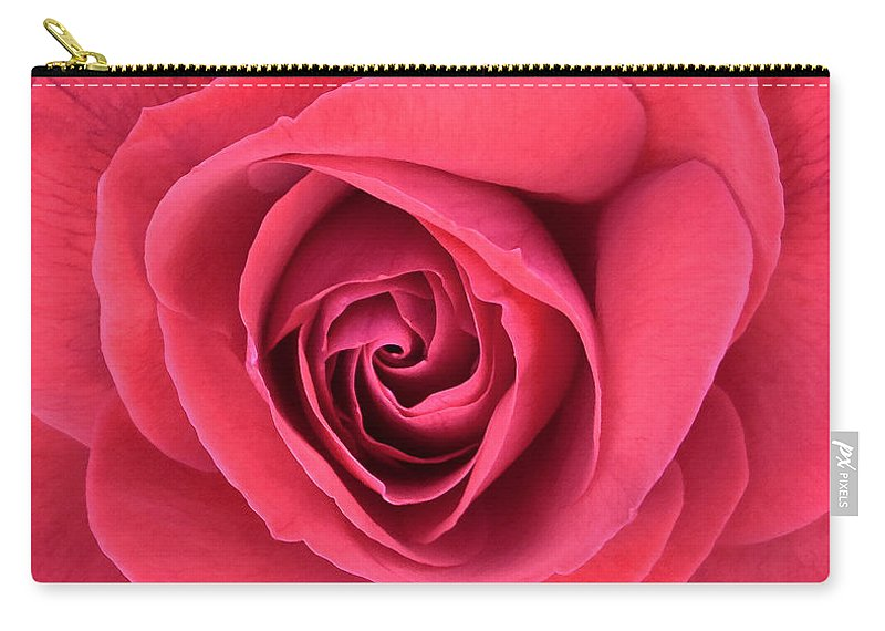 Rose Carry-all Pouch featuring the photograph Soft Rose by Lydia Holly