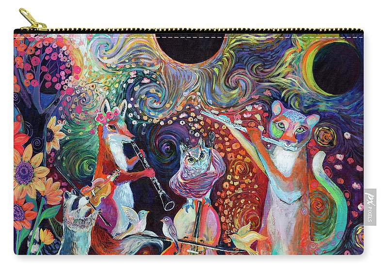 Solar Carry-all Pouch featuring the painting Solar Eclipse by Jennifer Lommers