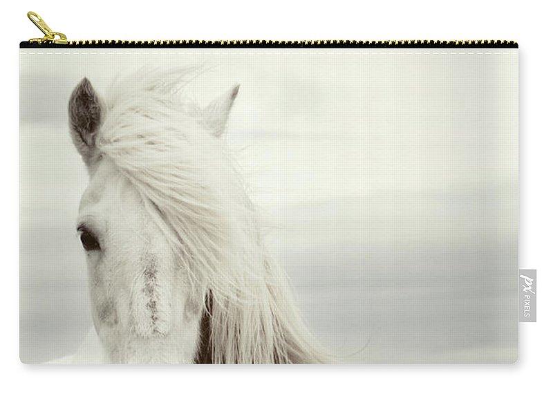 Horse Carry-all Pouch featuring the photograph ísold by Gigja Einarsdottir