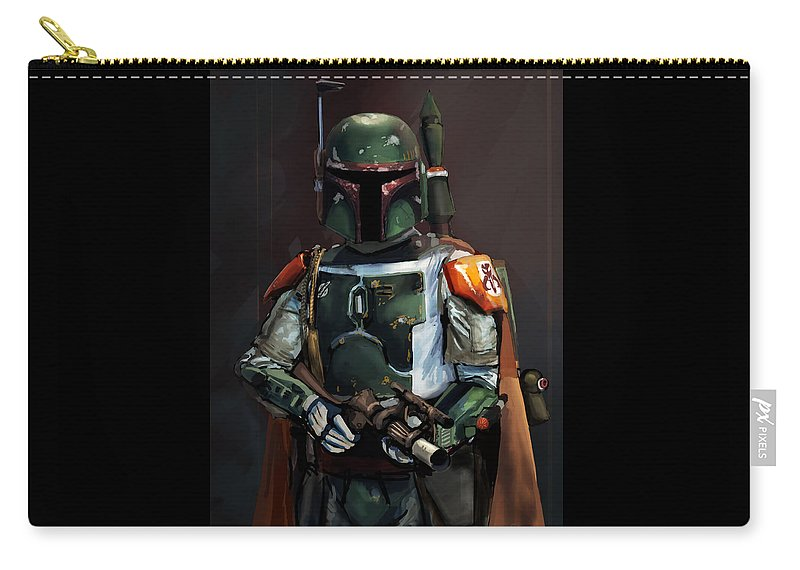 Star Wars Carry-all Pouch featuring the digital art Soldier Of Fortune Boba Fett by Cais Asmiani