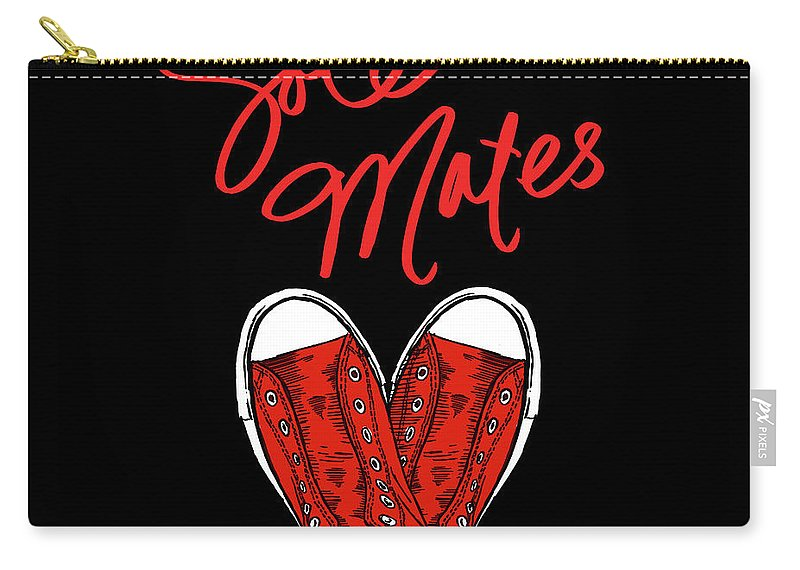 Sole Carry-all Pouch featuring the mixed media Sole Mates (black) by Sd Graphics Studio