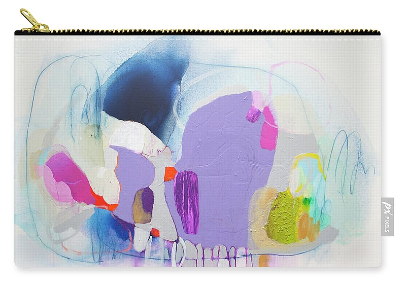 Abstract Carry-all Pouch featuring the painting Sometime In June by Claire Desjardins
