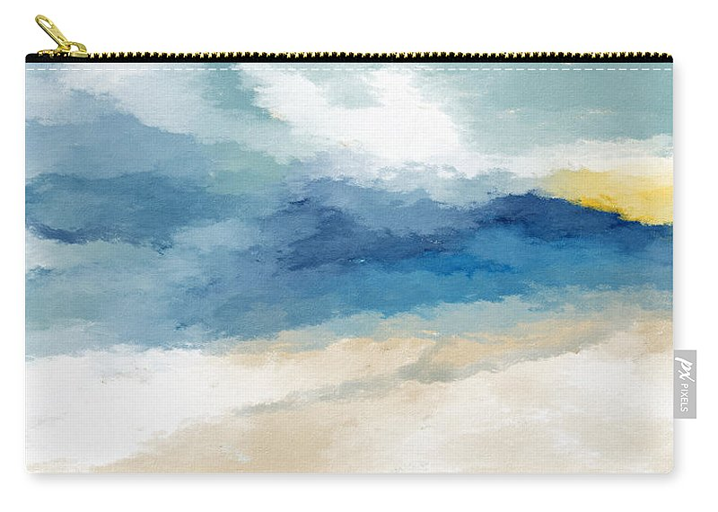 Coastal Carry-all Pouch featuring the mixed media Soothing Memory- Art By Linda Woods by Linda Woods