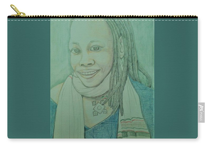 Carry-all Pouch featuring the drawing SoulJah by Andrew Johnson
