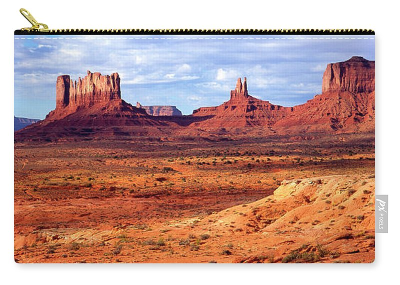 Scenics Carry-all Pouch featuring the photograph Southwest Scenery by Vittorio Ricci - Italy
