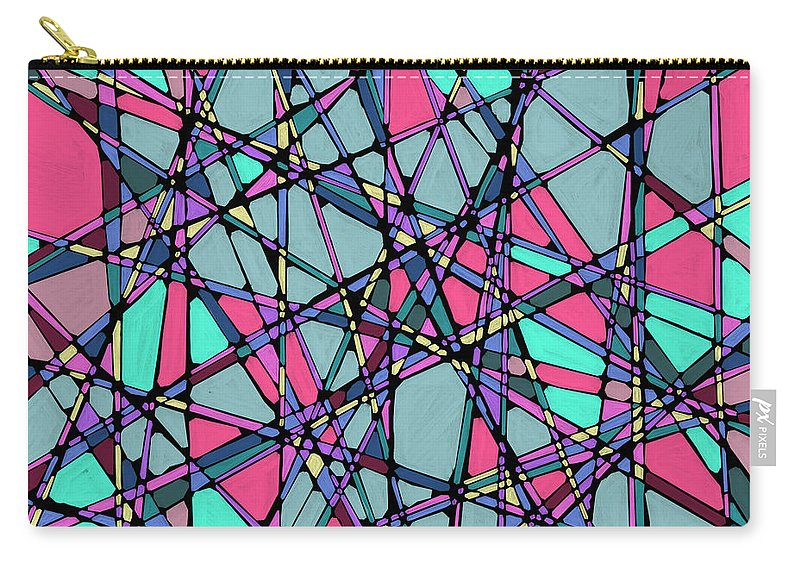 Nonobjective Carry-all Pouch featuring the digital art Spaces We Inhabit #010 by James Fryer
