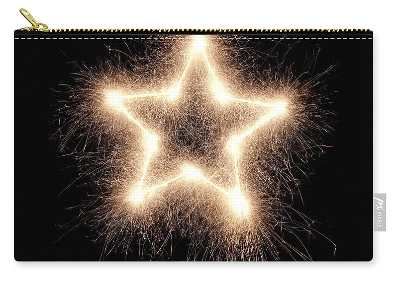 Holiday Carry-all Pouch featuring the photograph Sparkling Star by Amriphoto