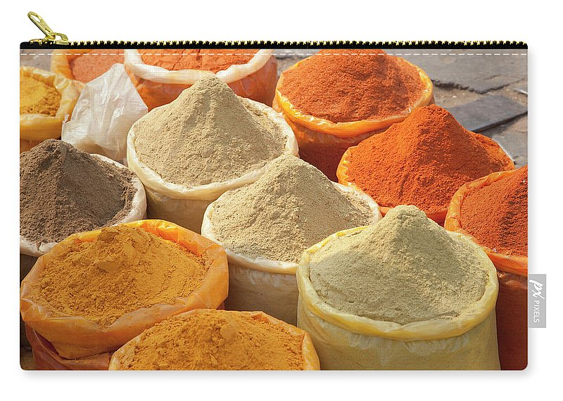 New Delhi Carry-all Pouch featuring the photograph Spice Display by Grant Faint