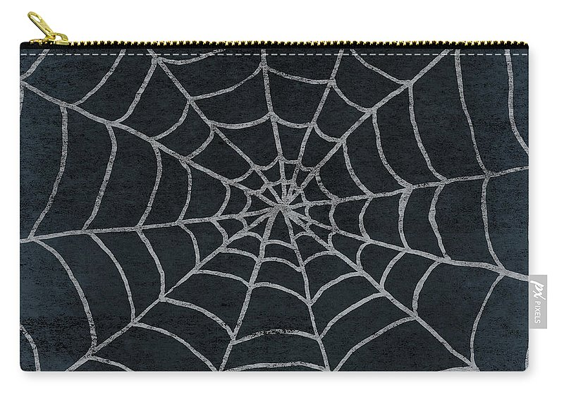 Spider Carry-all Pouch featuring the mixed media Spider Web by Elizabeth Medley