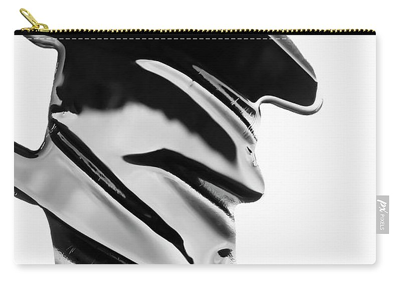 Problems Carry-all Pouch featuring the photograph Spilled Black Paint Making An Abstract by Fstop Images - Ralf Hiemisch