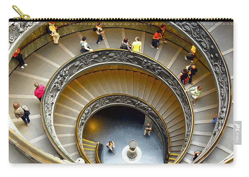 Spiral Staircase Carry-all Pouch featuring the photograph Spiral Staircase by Eric Burkholder