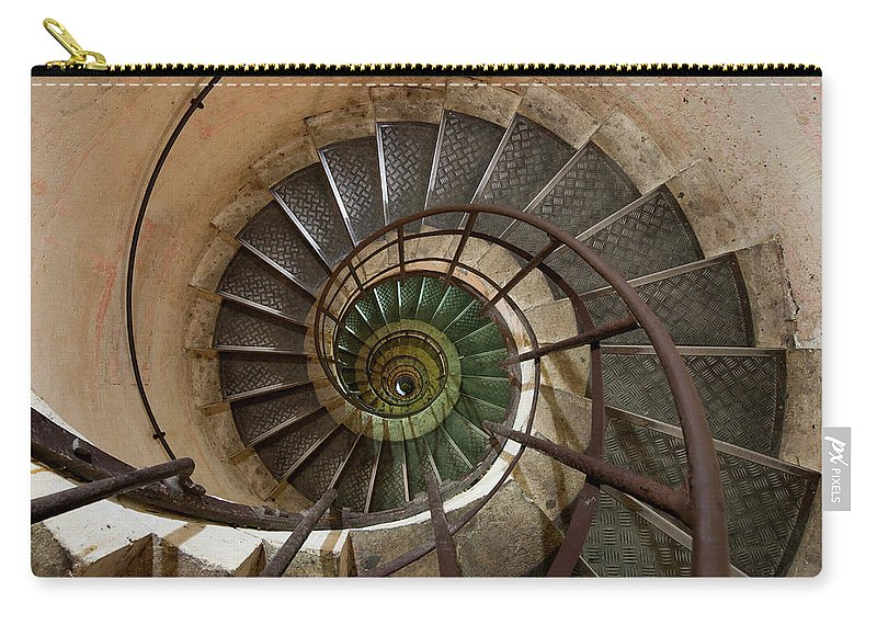 Built Structure Carry-all Pouch featuring the photograph Spiral Staircase In The Arc De by Mint Images/ Art Wolfe