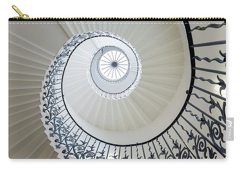 Queen's House Carry-all Pouch featuring the photograph Spiral Staircase, The Queens House by Peter Adams