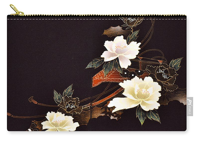 Carry-all Pouch featuring the digital art Spirit of Japan H14 by Miho Kanamori