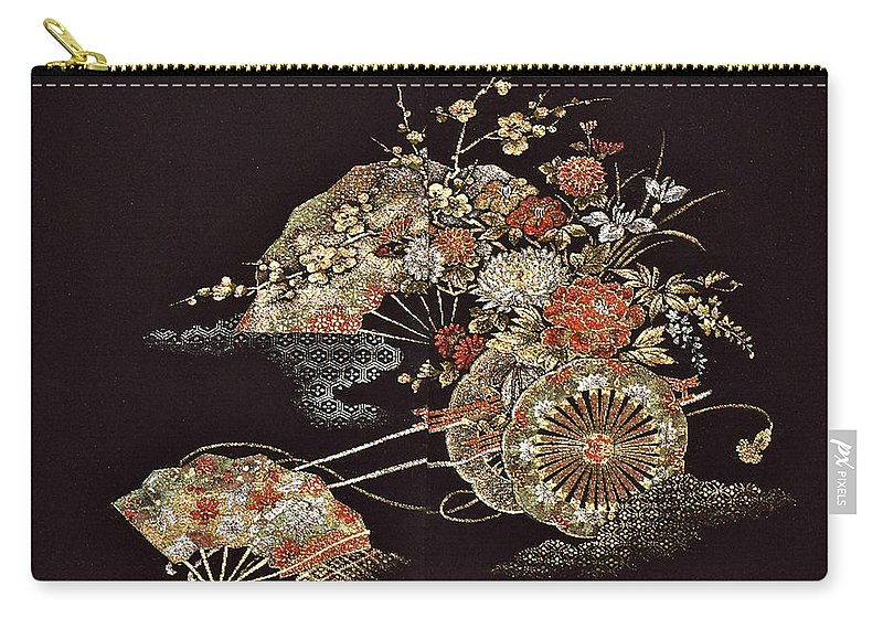 Carry-all Pouch featuring the digital art Spirit of Japan H2 by Miho Kanamori
