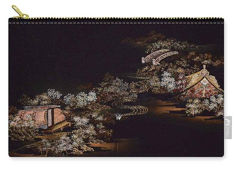 Carry-all Pouch featuring the digital art Spirit of Japan H25 by Miho Kanamori