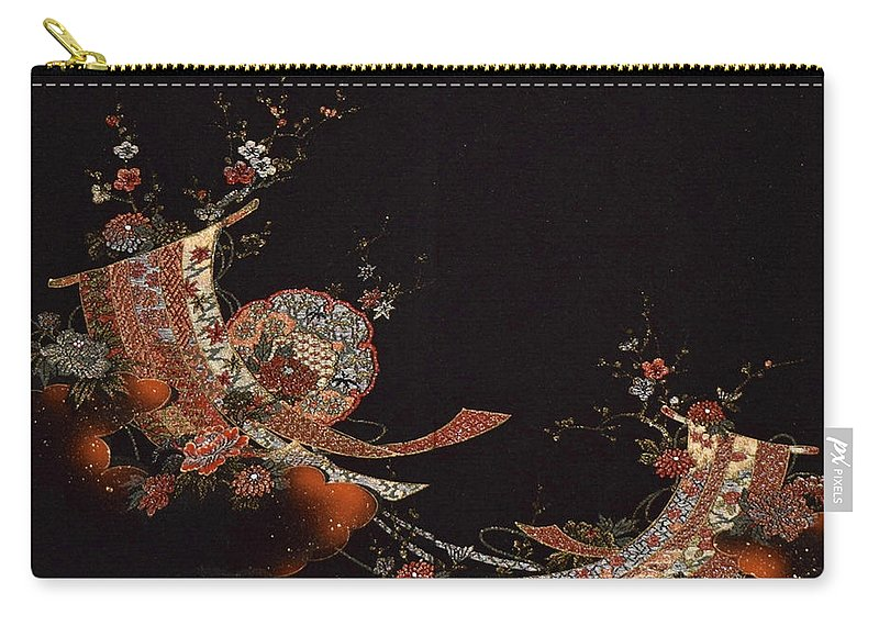 Carry-all Pouch featuring the digital art Spirit of Japan H28 by Miho Kanamori