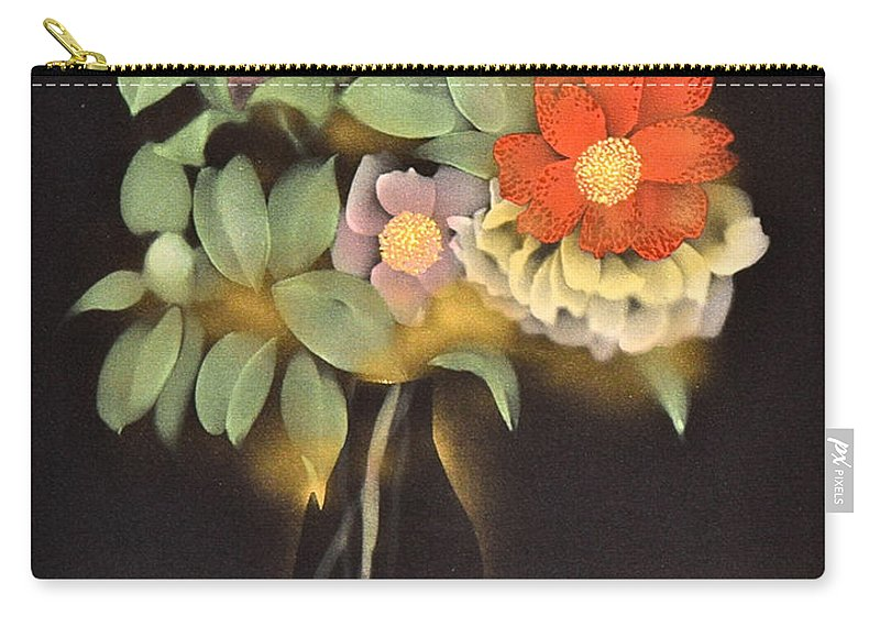 Carry-all Pouch featuring the digital art Spirit of Japan O1 by Miho Kanamori