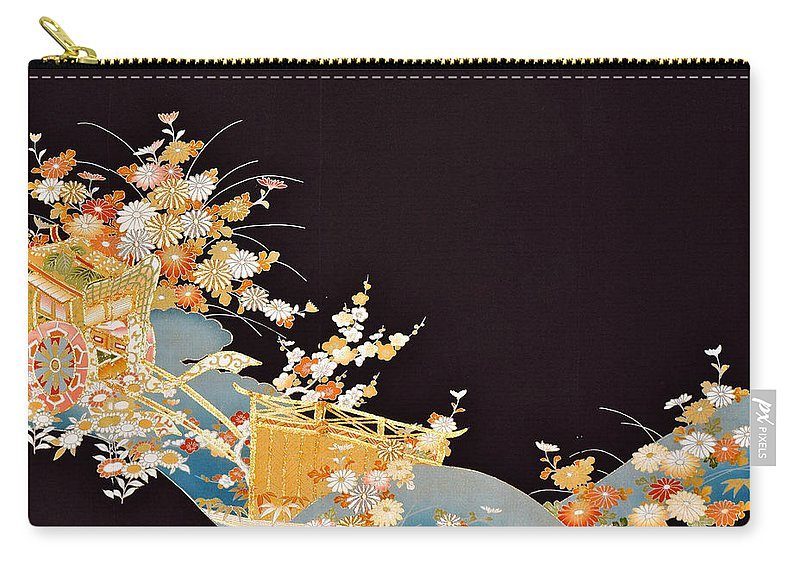 Carry-all Pouch featuring the digital art Spirit of Japan T14 by Miho Kanamori