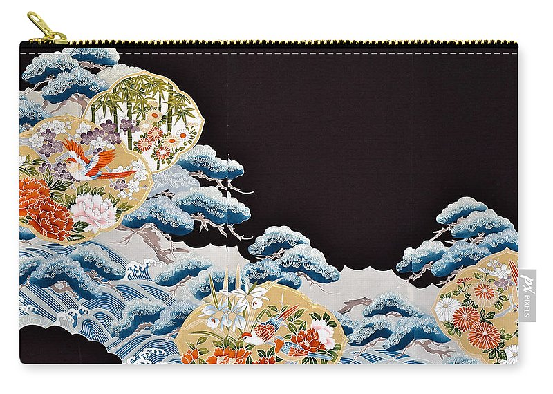 Carry-all Pouch featuring the digital art Spirit of Japan T6 by Miho Kanamori