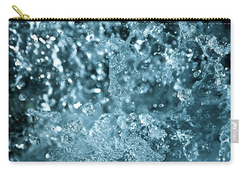 Spray Carry-all Pouch featuring the photograph Splash From Waterfall by Sindre Ellingsen