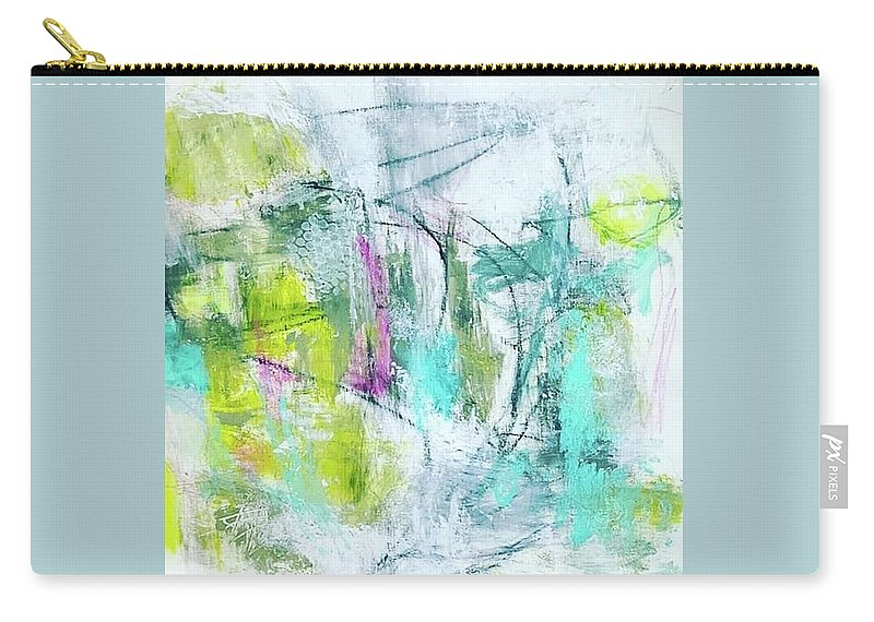 Abstract Carry-all Pouch featuring the painting Spring Dance by Patricia Byron