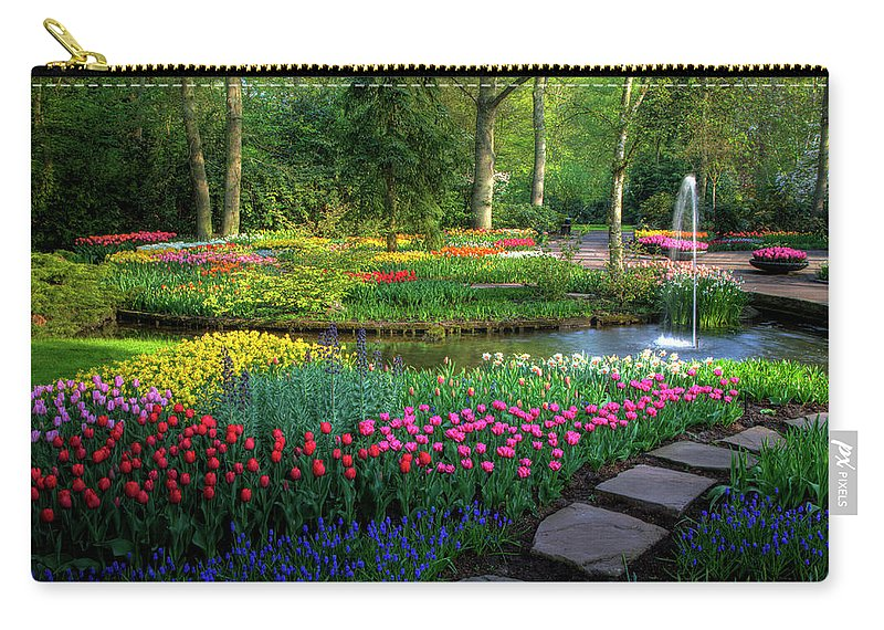 Netherlands Carry-all Pouch featuring the photograph Springtime Keukenhof Gardens With by Darrell Gulin