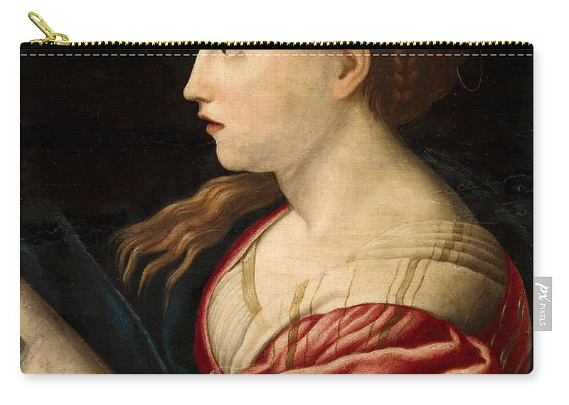 Parmigianino (after) Carry-all Pouch featuring the painting St Barbara by Parmigianino after