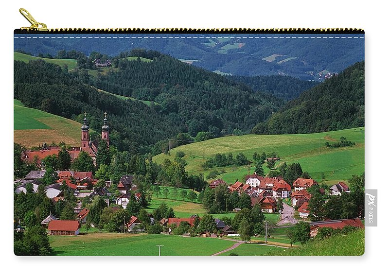 Architectural Feature Carry-all Pouch featuring the photograph St. Peters Abbey, Black Forest, Germany by Bilderbuch  / Design Pics