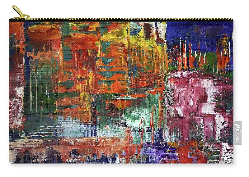 Abstract Carry-all Pouch featuring the painting Stairs Leading To Stars by Nathan Steinke
