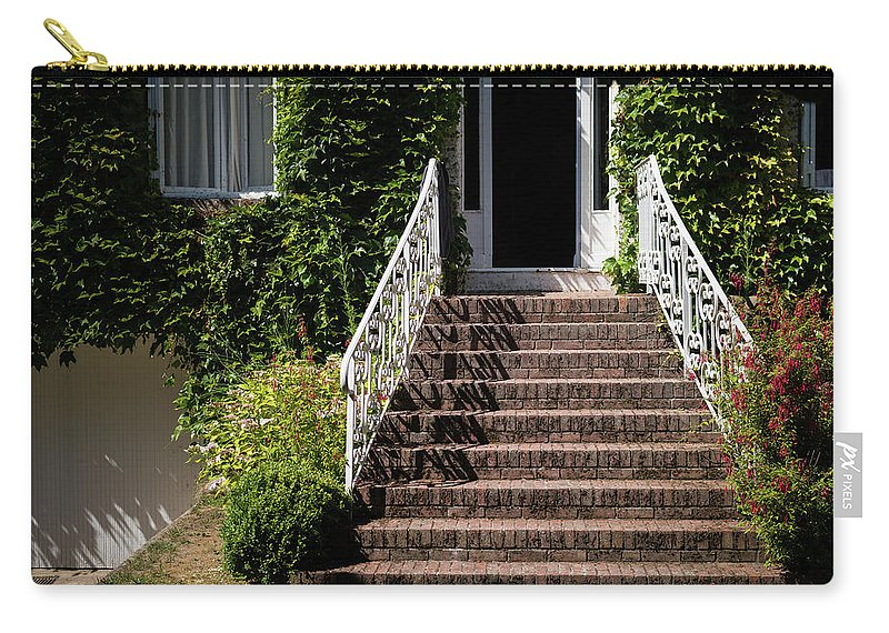 House Carry-all Pouch featuring the photograph Stairs Leading To The Entrance Of A House by Stefan Rotter