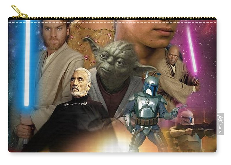 Star Wars Episode Ii Carry-all Pouch featuring the digital art Star Wars Episode II by Geek N Rock