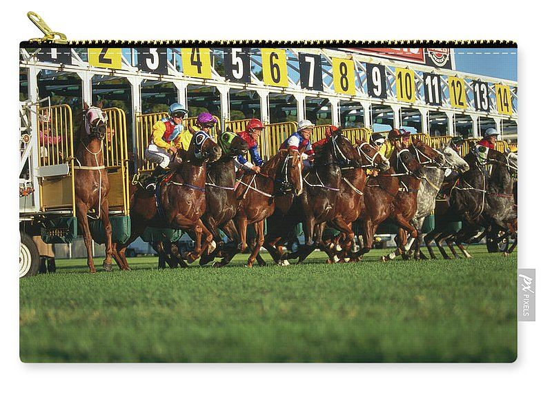 Horse Carry-all Pouch featuring the photograph Start Of Horse Race, Sydney, New South by Oliver Strewe