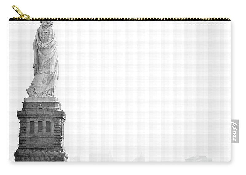Statue Carry-all Pouch featuring the photograph Statue Of Liberty by Image - Natasha Maiolo