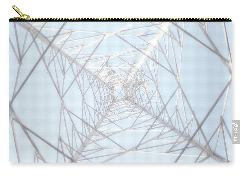 Radial Symmetry Carry-all Pouch featuring the photograph Steel Tower by Kaneko Ryo
