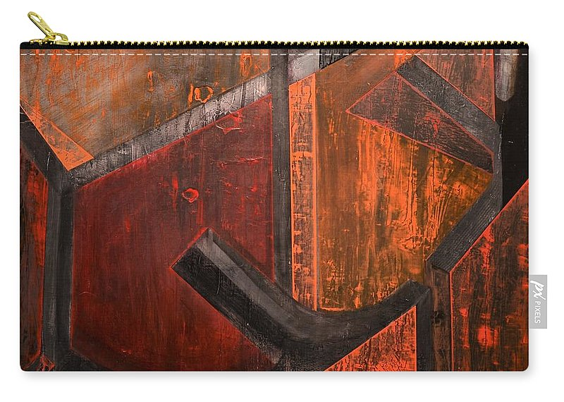Frank Stella Tribute Carry-all Pouch featuring the painting Stellascape by Patrick N Brown