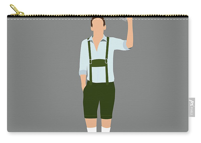 Human Arm Carry-all Pouch featuring the digital art Stereotypical German Man by Ralf Hiemisch