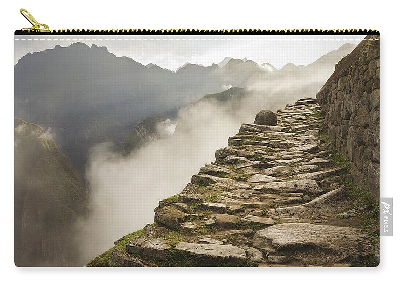 Machu Picchu Carry-all Pouch featuring the photograph Stone Inca Trail by David Madison