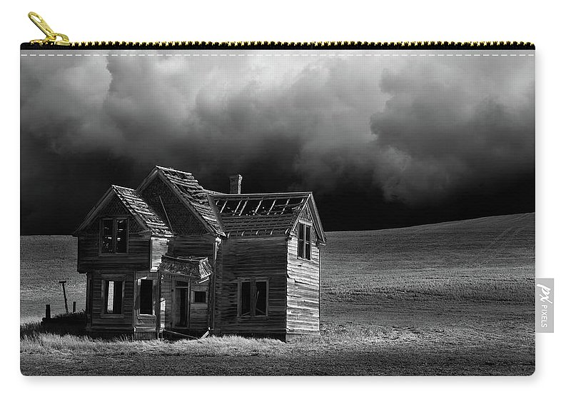 Grass Carry-all Pouch featuring the photograph Stormy Weather by Davealan